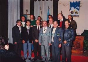 Dott. Pietro Secci (terzo da six) tra dirigenti dell'Ilva