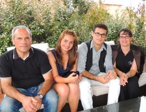 Salvatore Enna con la famiglia