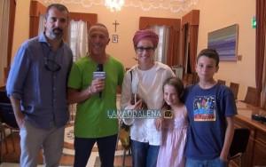 Francesco Munzi con la moglie e i figli