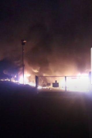 Violento incendio nella discarica di La Maddalena