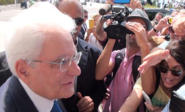 L'arrivo a La Maddalena del Presidente della Repubblica, Sergio Mattarella