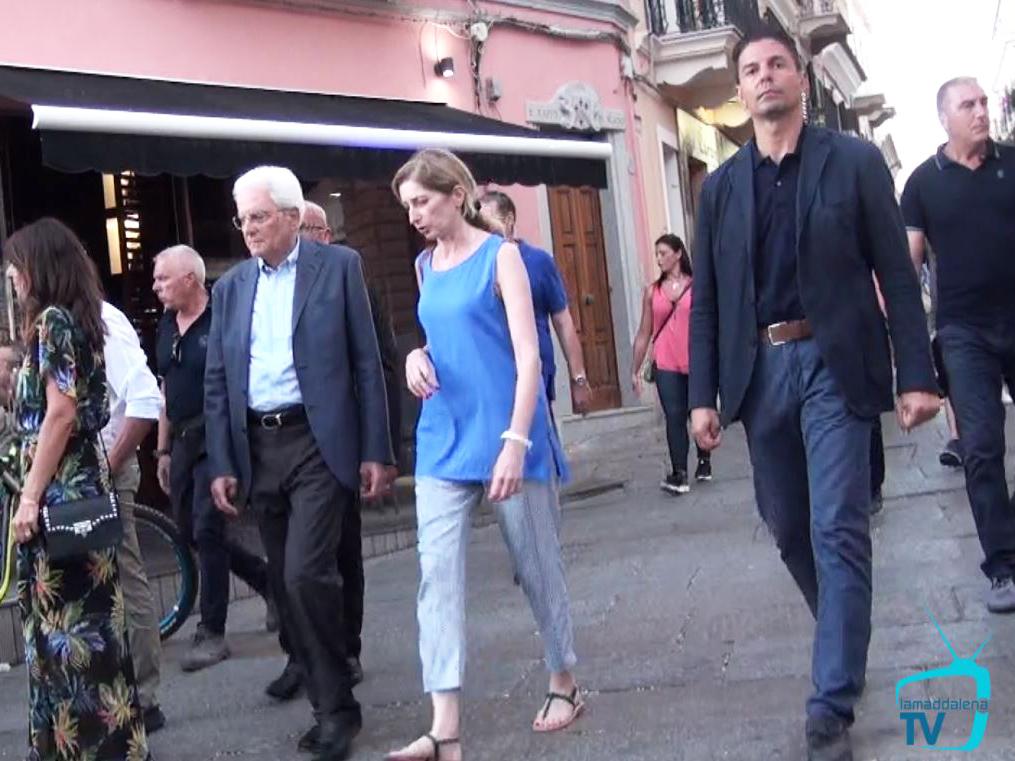 Il Presidente della Repubblica, Sergio Mattarella, a passeggio per La Maddalena