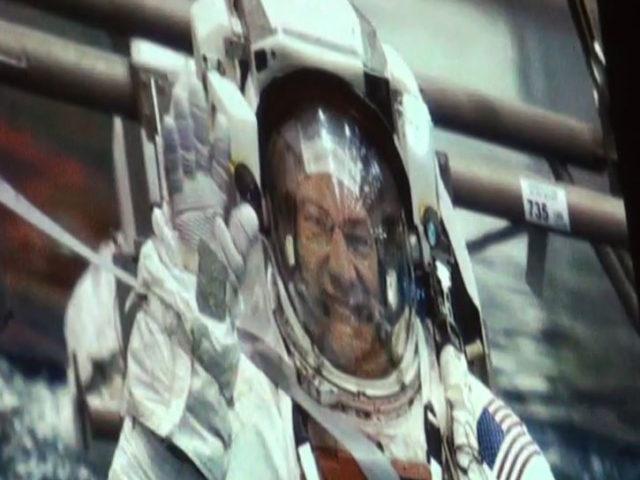 Con Paolo Nespoli, sulla Stazione Spaziale Internazionale.