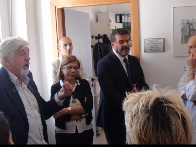 L'Assessore regionale della Sanità Luigi Arru, a La Maddalena