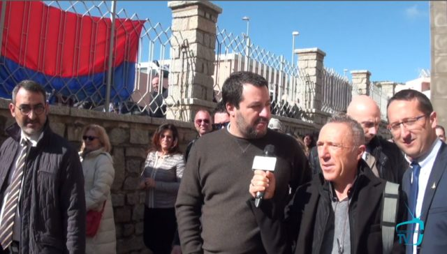 Il Ministro dell'Interno Matteo Salvini a La Maddalena