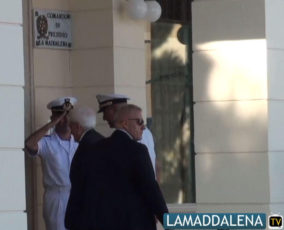 Il Presidente della Repubblica, Sergio Mattarella in vacanza a La Maddalena