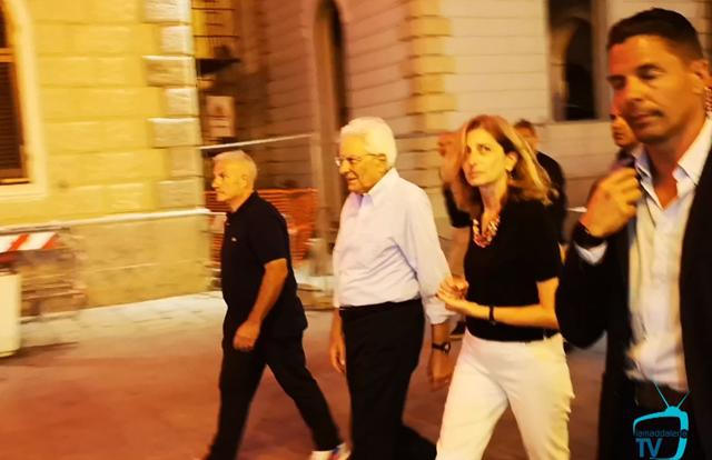 La passeggiata ferragostana del Presidente della Repubblica, Sergio Mattarella.