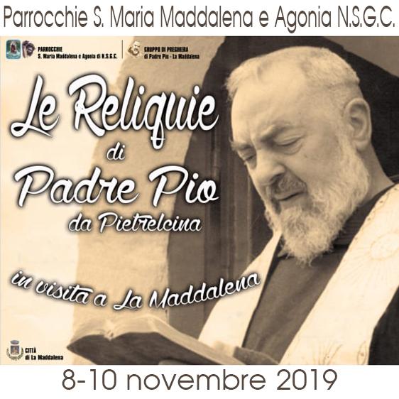 Le reliquie di S. Pio da Pietrelcina a La Maddalena: grande partecipazione e devozione