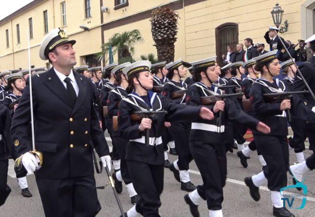 Gli allievi Nocchieri di Porto, giurano a La Maddalena.